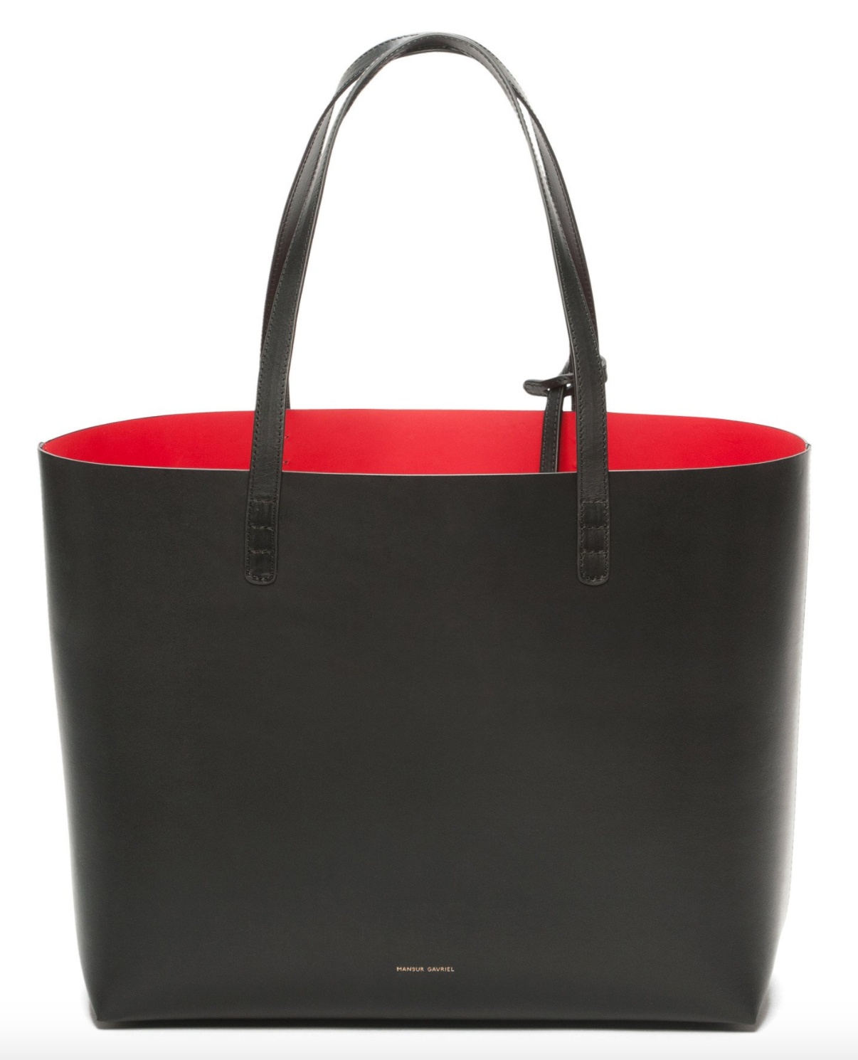Red-lined Top Handle leather bag Mansur Gavriel TVuh0ju